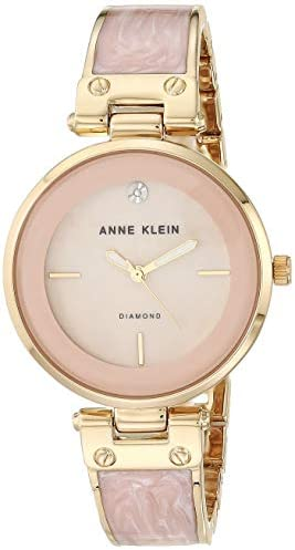 Anne Klein Women's Genuine Diamond Dial Bangle Watch