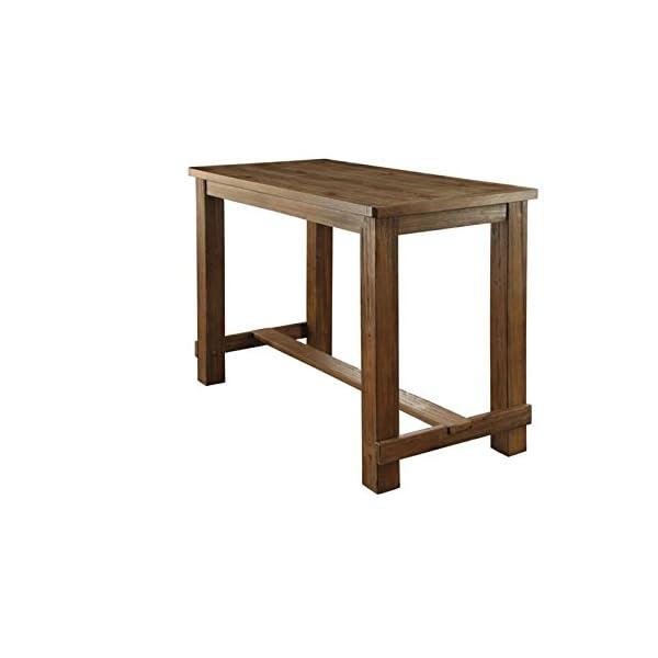 Furniture of America Sinuata Farmhouse Wood 5-Piece Pub Set in Natural Tone