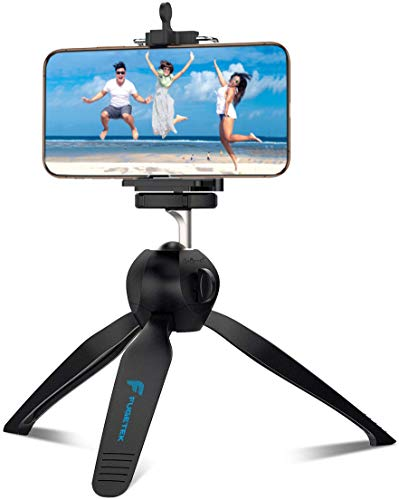 Fugetek Mini Tripod Table Top Stand and Phone Mount, Compact, Travel Ready, Use with FaceTime, Video Calls, Compatible… 4
