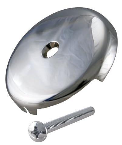Westbrass 740Z-CP 1-Hole Overflow Bathtub Faceplate with Screw, Polished Chrome (Bathtub Overflow Elbow)