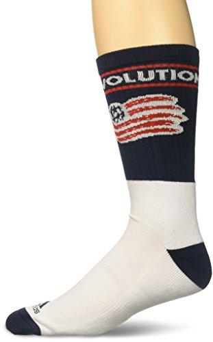 adidas MLS New England Revolution Men's Team Name & Logo Crew Socks, Size 12-15, Navy