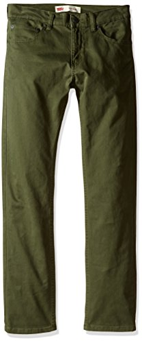 - Levi's Boys' Big 511 Slim Fit Soft Brushed Pants, Olive Night, 16