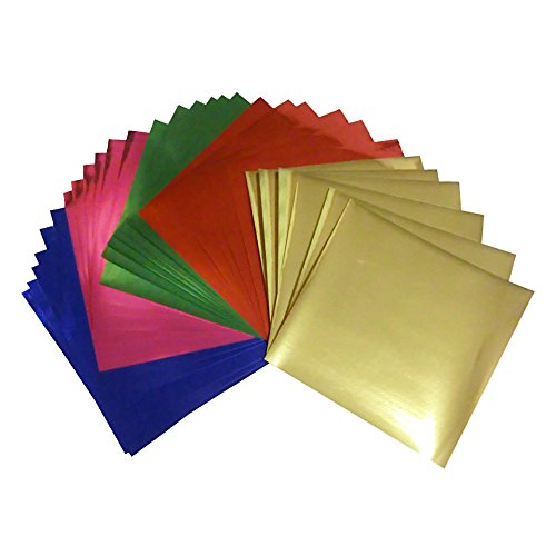 7.9x7.9inches Large Foil Color Origami Folding Paper, Metallic Color Paper, 30 Sheets Pack