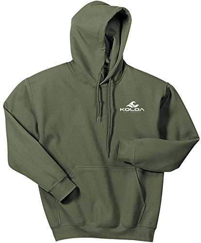 - Koloa Surf.(tm) - 2 Side Wave Logo Hoodies-Hooded Sweatshirt-Military.Green-M