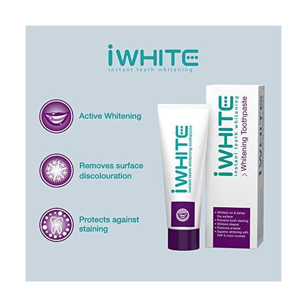 Pasta dental blanqueadora iWhite Instant - Blanqueamiento dental activo - Restauración del esmalte - Remineralización… 5