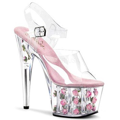 Flowers Clr Sandalias B Pink Pleaser mujer qXPpS