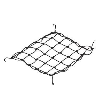 2 Pack Motorcycle Bungee Cargo Net in Black