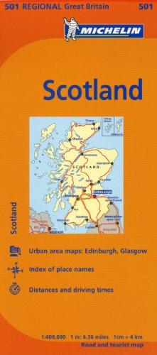 Michelin Map Great Britain: Scotland 501 (Maps/Regional (Michelin))