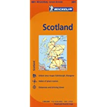 Scotland Road Map MH501 1:400,000 Michelin