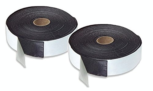 2 ROLLS Foam Insulation Tape Adhesive, Seal, Doors, Mounting, Waterproof, Plumbing, HVAC, Windows, Pipes, Cooling, Air conditioning, Craft, Weather Strip Black Tape (60 Ft- 1/8