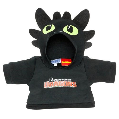 Toothless Night Fury Costumes (Build a Bear Workshop, Toothless Teddy Bear Hoodie, How to Train Your Dragon)