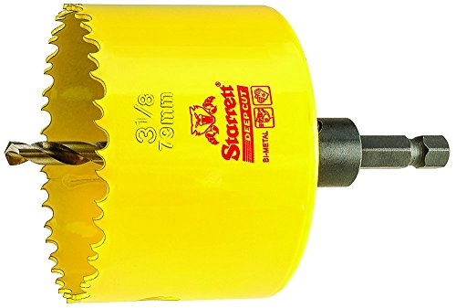 - HSS BI-Metal, DEEP Cut Hole Saw with Arbor, 3-1/8