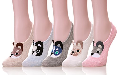 (Color City Womens Novelty Cute Funny Ankle Socks - Cartoon Animal No Show Low Cut)