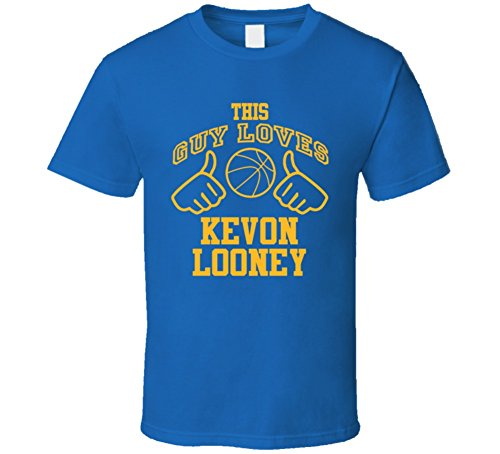 Kevon Looney This Guy Loves Heart Golden State Basketball T Shirt XL Royal Blue