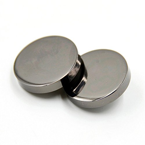 (10PCS Metal Flat Button Women Suit Woolen Coat Button Male Jacket Button Shirt Suit Trousers Button Round Shaped Sewing Button (20mm, Black))