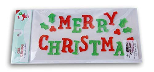 Christmas Winter Gel Window Clings - Merry Christmas - 20 Piece