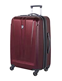 Atlantic AL54574070 Atlas Collection-Expandable 24-Inch Luggage, Red, Checked – Medium