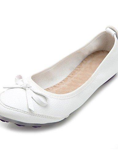 PDX/ Damenschuhe-Ballerinas-Büro / Kleid / Lässig-Kunstleder-Flacher Absatz-Komfort-Weiß , us5.5 / eu36 / uk3.5 / cn35