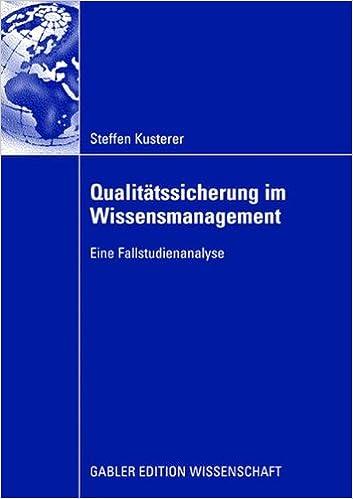 Book Qualitätssicherung im Wissensmanagement
