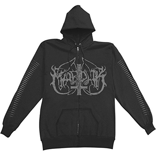 Marduk Men's Panzer Division Marduk Zippered Hooded Sweatshirt Medium Black by Marduk