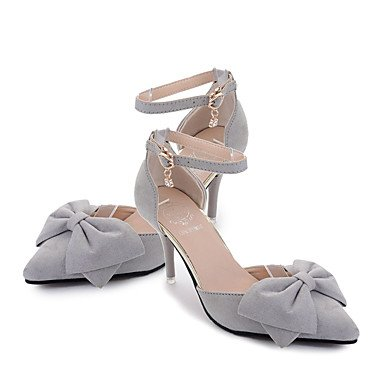 Heel EU36 Gray Walking Camel CN36 Women'sHeels Pink Low Comfort PU Lace UK4 Blushing Black up Summer Outdoor US6 fqZwpX