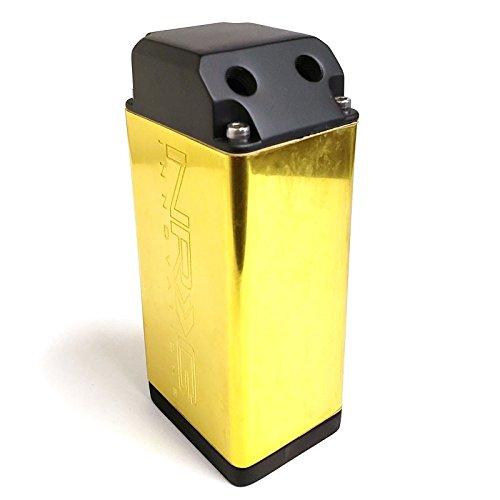 Gold NRG Universal 750ML Aluminum Engine Valve Oil Catch Tank/Can Reservoir+Hose Kit (OCC-100GD)