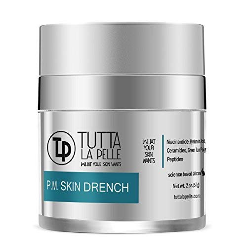 (Anti Aging Night Cream - Intense Hydrating Face Moisturizer - Enriched with Hyaluronic Acid, Ceramide, Peptides, Excellent Night Face Cream - Fragrance Free - Light Feeling - 2oz)