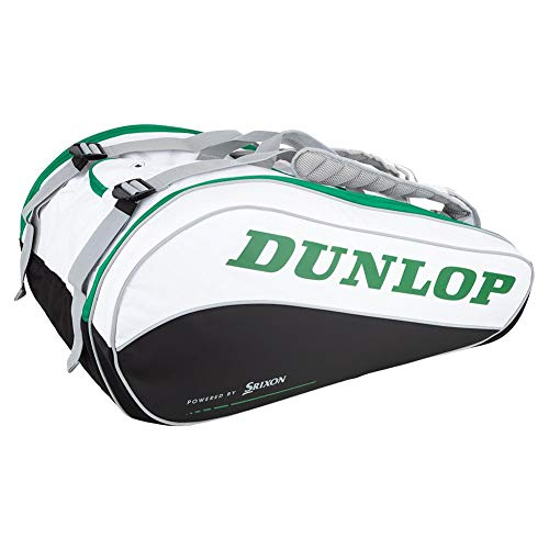 DUNLOP CX Performance 15 Pack Tennis Bag White and Green ()