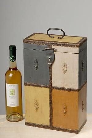 Caja para botellas Vino baúl Madera Caja de Regalo Aladin H38 cm: Amazon.es: Hogar