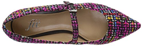 The Fix Women's Estrella Mary Jane Tweed Ballet Pointed Toe Flat, Pink/Multi, 8.5 B US by The Fix (Image #9)