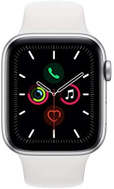 Apple Watch Series 5 (GPS, 44mm) – Silver Aluminum Case with White Sport Band 41w4JwFtOHL