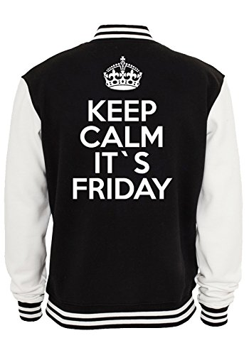 Keep Calm It`s Friday College Vest Black