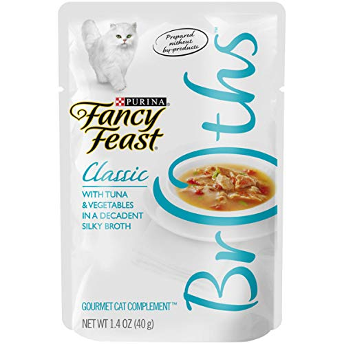 (Purina Fancy Feast Broths Classic With Tuna & Vegetables Wet Cat Food Complement - 1.4 oz. Pouch, pack of)