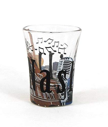 Americaware SGNVL01 Nashville Full Color & Etched Shot Glass