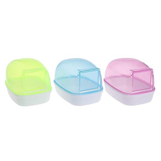 SimpleLife Hamster Baño Casa Baño Arena Sauna Habitación Plástico ...