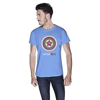 Creo Captain Oman T-Shirt For Men - M, Blue