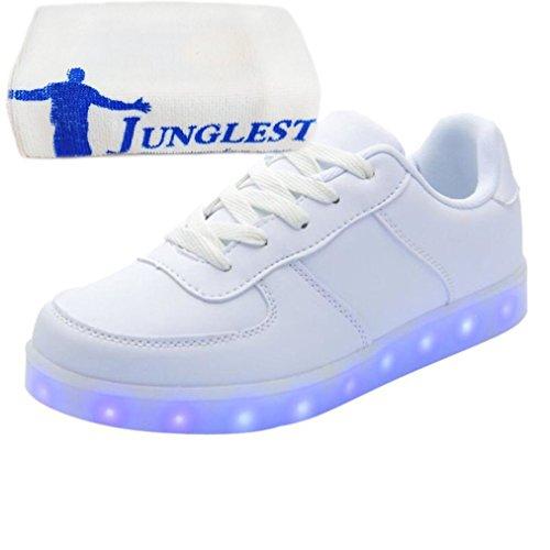 (Present:kleines Handtuch)JUNGLEST 7 Farbe Unisex LED-Beleuchtung Blink USB-Lade Turnschuh-Schuh D