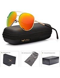 Men Aviator Sunglasses Polarized Women - UV 400 with case 60MM