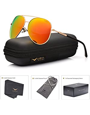 Men Aviator Sunglasses Polarized Women – UV 400 with case 60MM