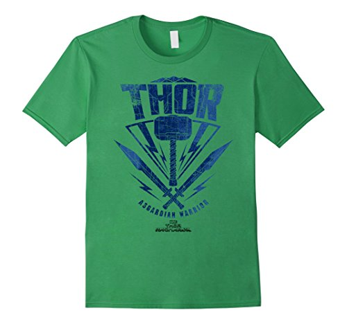 Marvel Thor Ragnarok Asgardian Warrior Hammer Shield T-Shirt