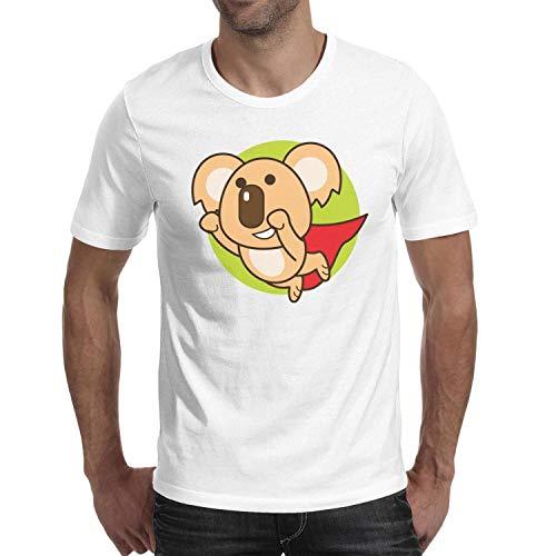 Melinda Big Koala Superman Flying Mens White Tshirt Short-Sleeve Adult Round Neck]()