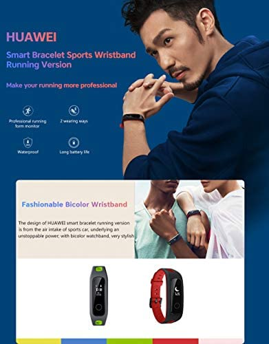 PADY Huawei Honor Band 4 Running Edition All-in-One Activity Tracker Smart Fitness Wristband GPS Multi-Sport Mode 5ATM Waterproof Anti-Lost Running Edition Willful Red