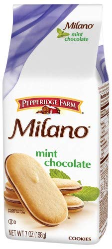Pepperidge Farm Milano Mint Chocolate Cookies (Pack of 4)