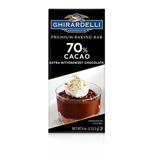 Ghirardelli Bittersweet Chocolate 70% Cacao Baking Bar, 4 oz (Bar Baking Cacao)