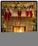 Funny Peaceful Christmas Eve Fireplace 50'' x 60'' (Medium) Fleece Throw Plush Blanket