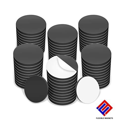 Adhesive Magnetic Discs Round