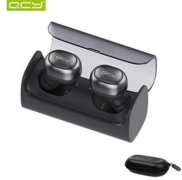 QCY Q29 inalámbrica Bluetooth auriculares estéreo auriculares AUTO conectados auriculares con micrófono y caja de almacenamiento