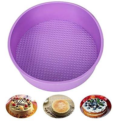 Baking Silicone 10-Inch Round Cake Pan Baking Mold, BPA Free, Non-Stick European-Grade Silicone, 2.16-Inches Deep