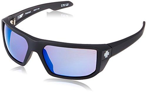 Spy Optic McCoy Flat Sunglasses, Matte Black/Happy Bronze Polar & Blue Spectra, 63 - Sunglasses Jr Dale