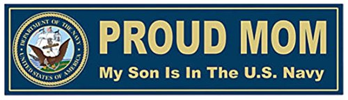 1 Set Luxurious Fashionable U.S. Proud Navy Mom Sticker Sign Wall Indoor Outdoor Size 11